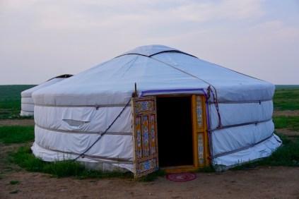 Typische Behausung in der Mongolei