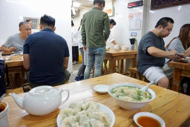 Mittagessen in Shanghai