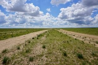 Straße durch Gobi
