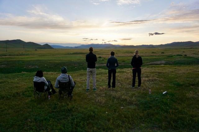 Sonnenuntergang in der Nordmongolei