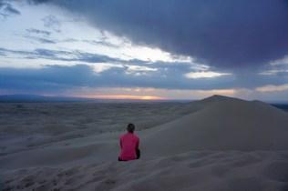 Sonnenuntergang auf den Dünen