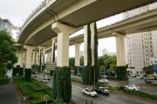 Schnellstraße in Shanghai