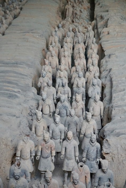 Soldaten aus Terrakotta in China