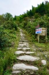 Wanderweg in Longsheng