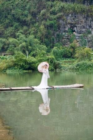 Braut-Fotos am Wasser