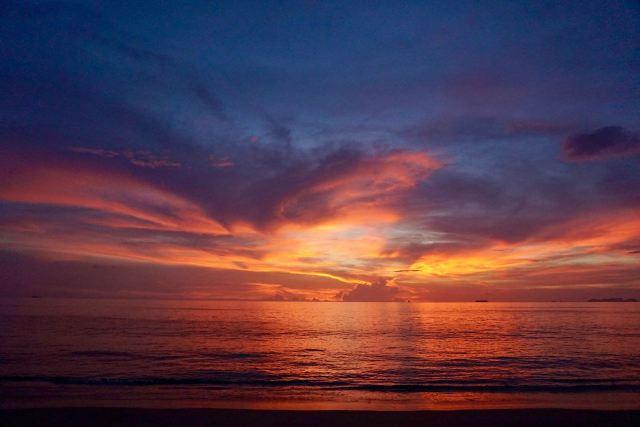 Farbenfroher Sonnenuntergang