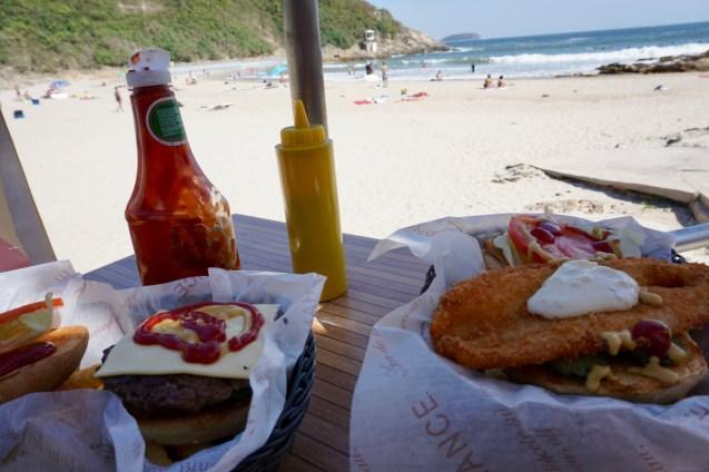 Mittagessen am Strand
