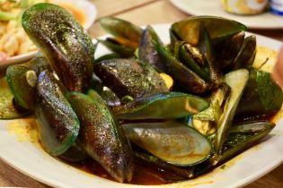 Muscheln beim Thai BBQ