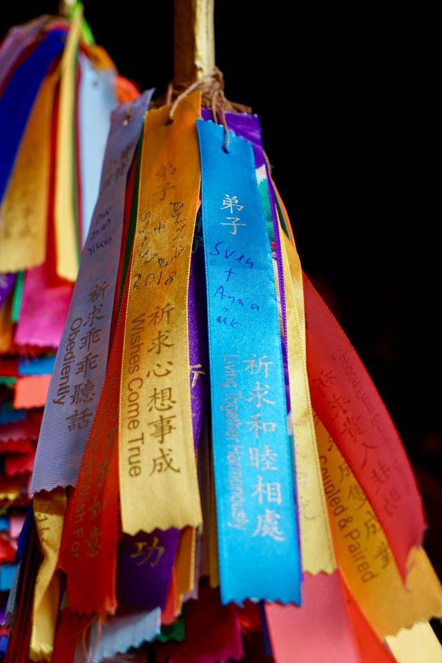 Buddhistische Glücksbänder