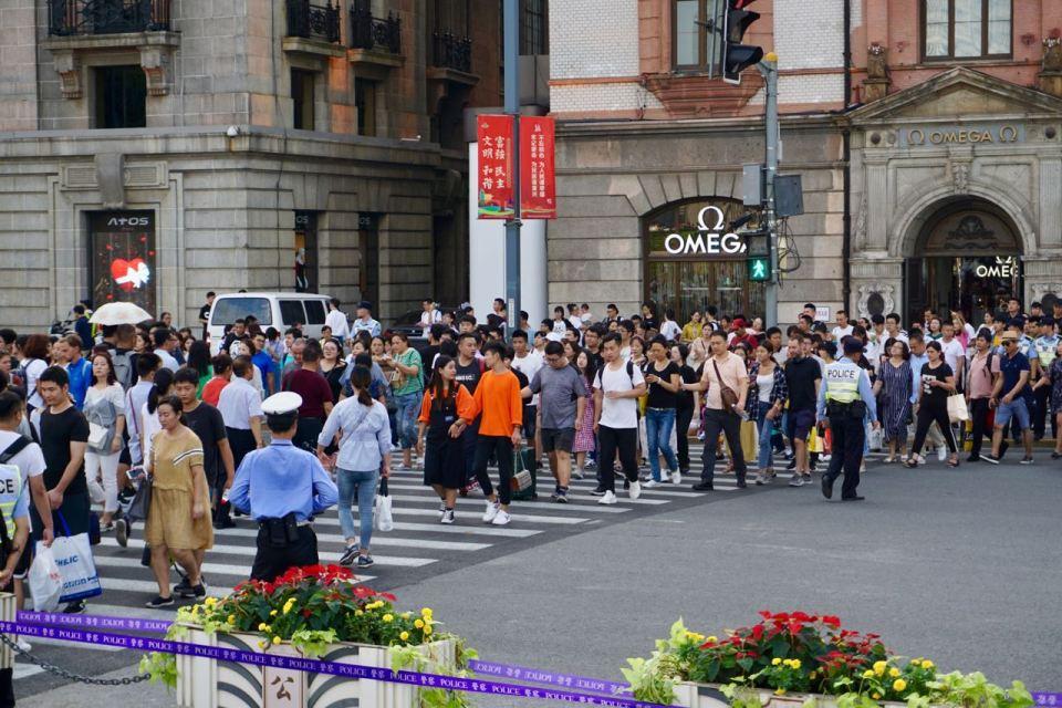 Touristen in Shanghai