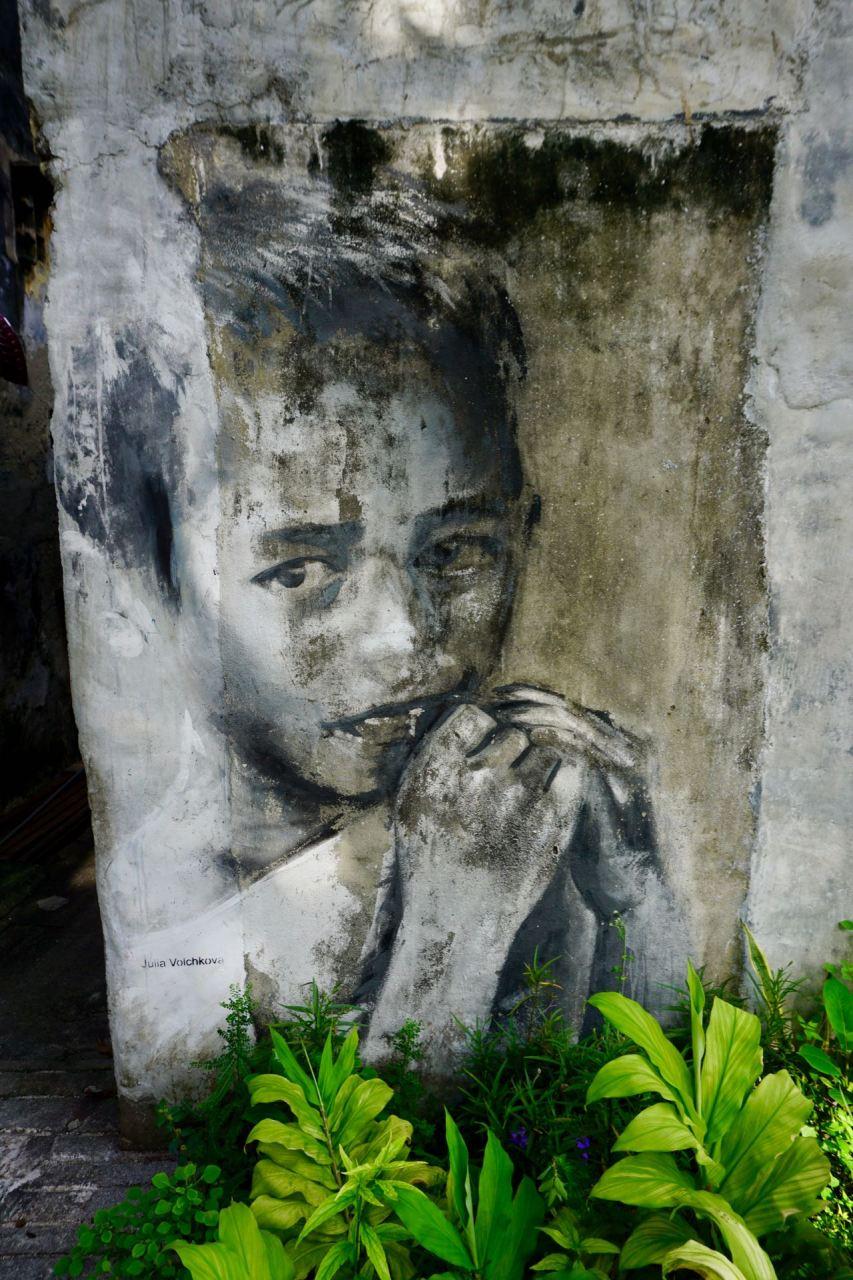 """Streetart """"Little Boy"""" in George Town"""