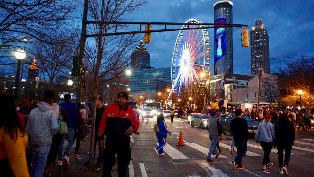 Fußgänger in der Innenstadt