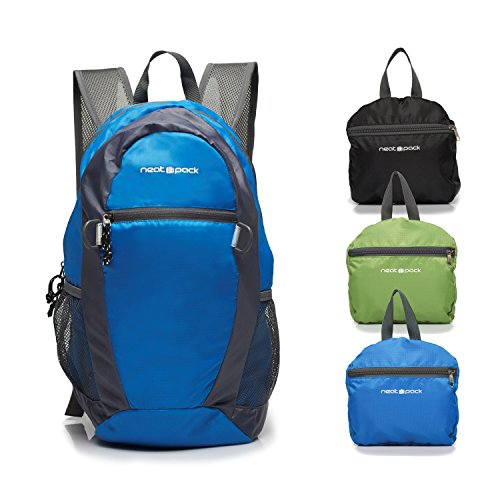 NeatPack-Durable-Foldable-Nylon-Backpack-Daypack-with-Security-Zippers-20L-0