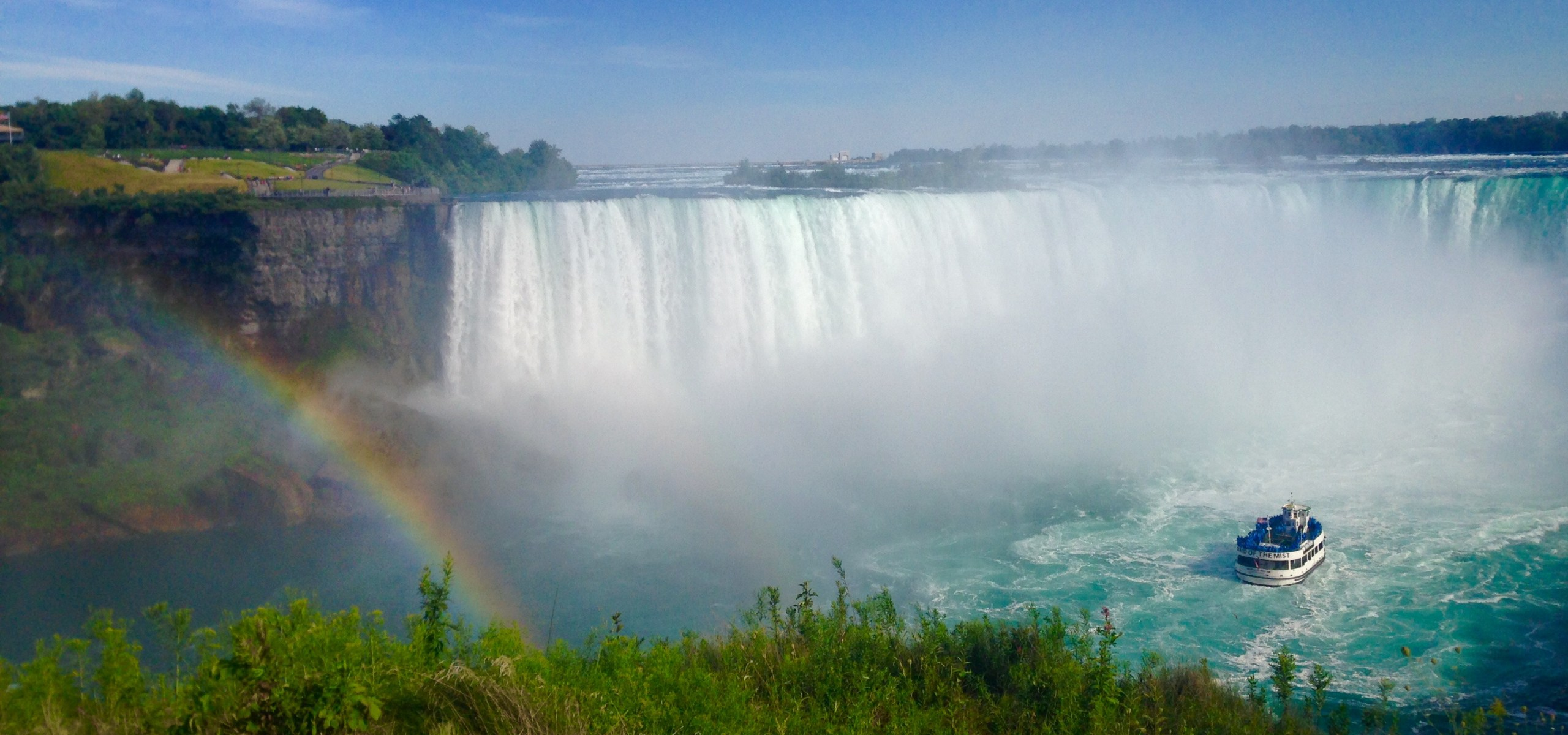 A FAINT RAINBOW ACROSS NIAGARA FALLN