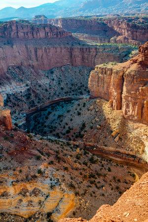 The deep canyon of Sulphur Creek