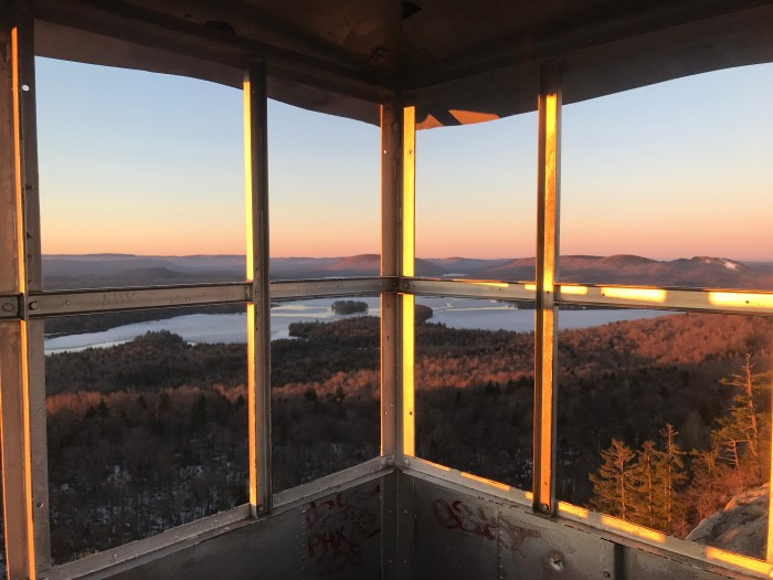 Fulton Chain Trifecta Hiking Challenge Rondaxe Fire Tower View