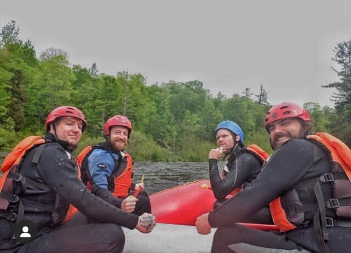 Four gentlemen from  Foot  Stuff Podcast go rafting!