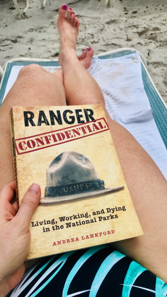Book Cover of Ranger Confidential on a sandy beach chair