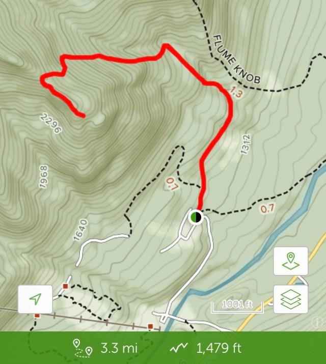 trail map of bear den mountain