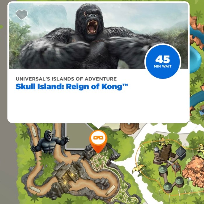 Screenshot from Universal Florida App