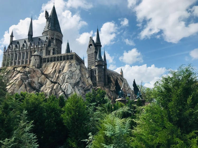 view of Hogwarts Castle