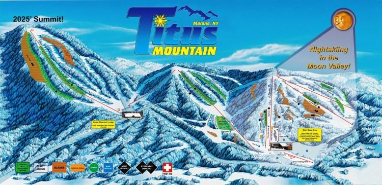 Titus Mountain Ski Trail Map