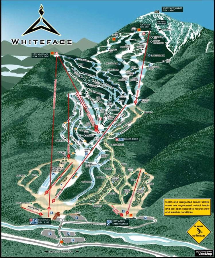 Whiteface Adirondack Trail Map