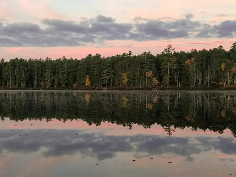 Jones Pond Camping Reflection