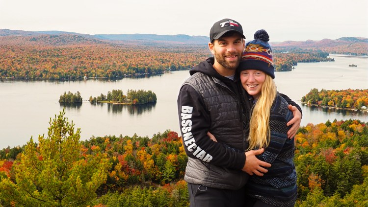 one of the best hikes in old forge for fall foliage