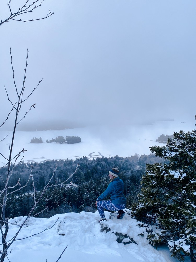 Winter on Rocky Mountain in Old Forge