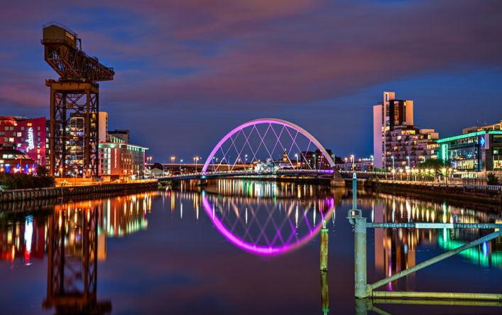 clyde arch glasgow scotland uk
