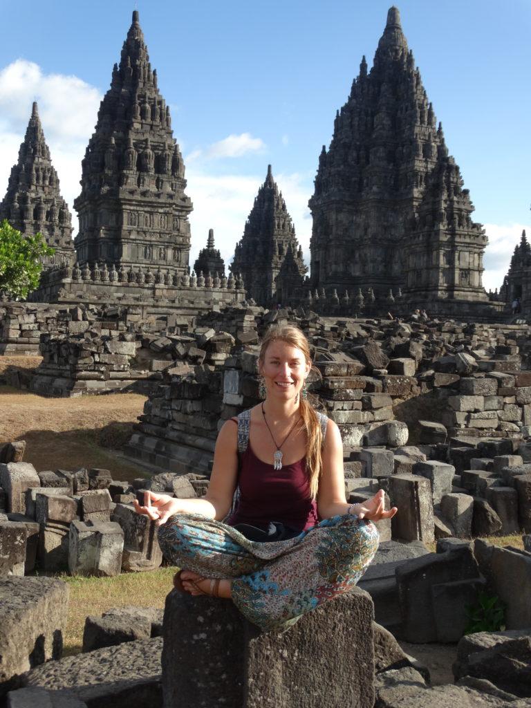 Selfie temples Prambanan