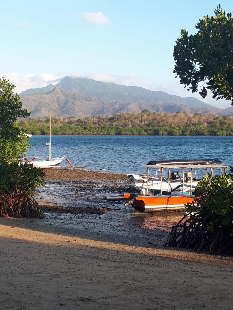 Plage départ Pulau Menjangan