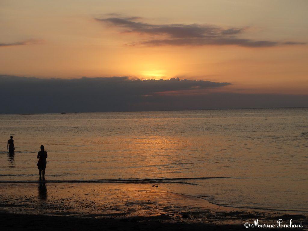 Coucher de soleil sur Bali