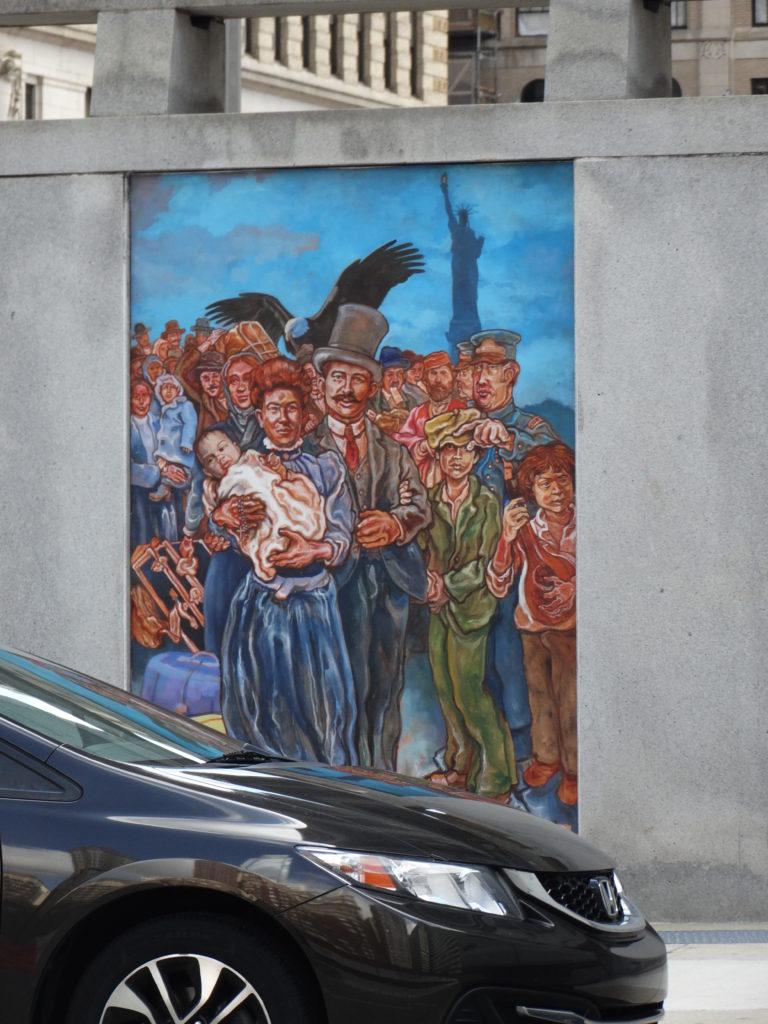 Fresque murale fête de naissance