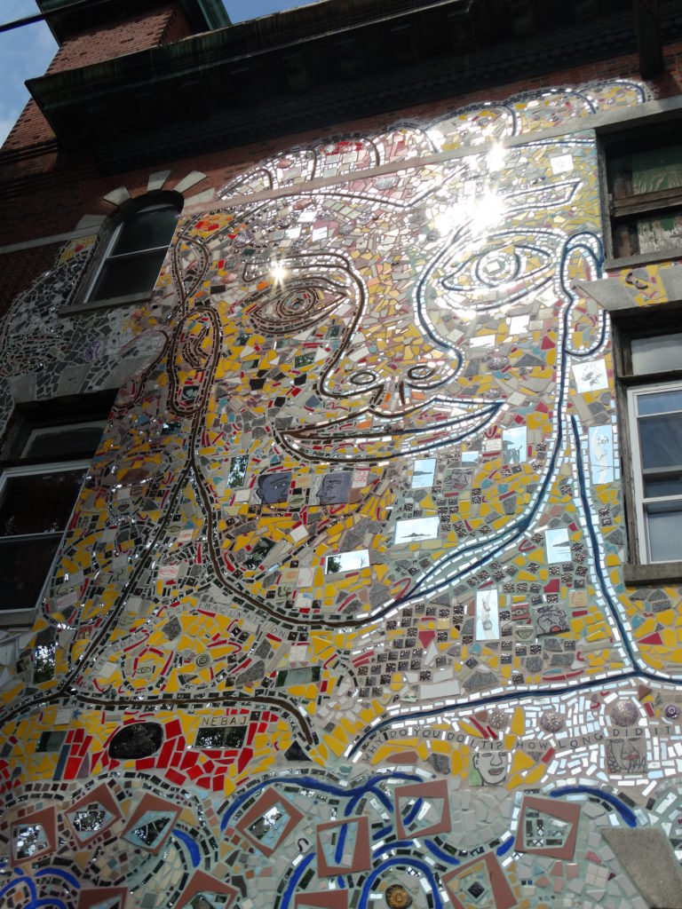 Visage mosaïque Philly