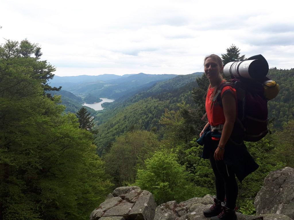 Panorama sur lac Vosges