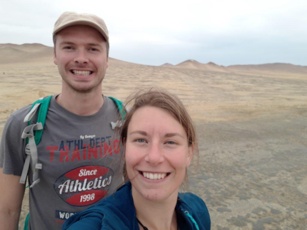 Selfie désert Paracas