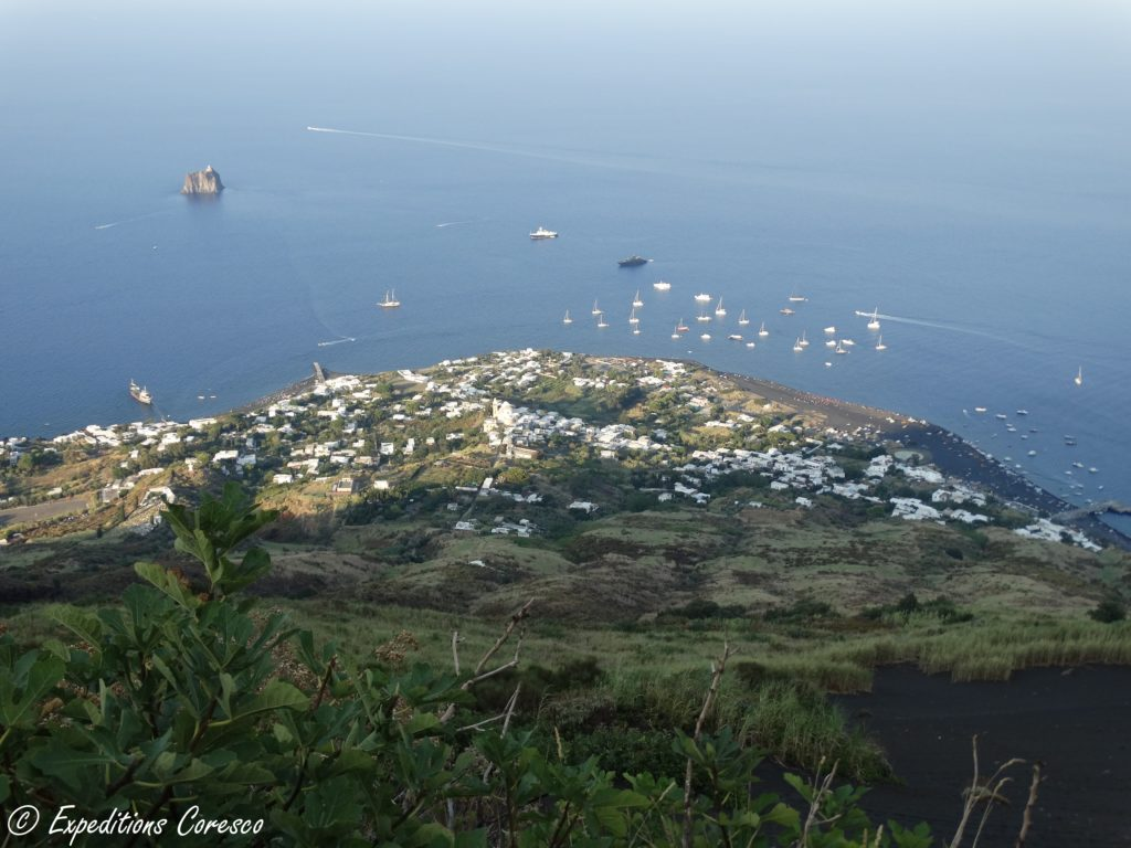 Vue panoramique depuis le Stromboli