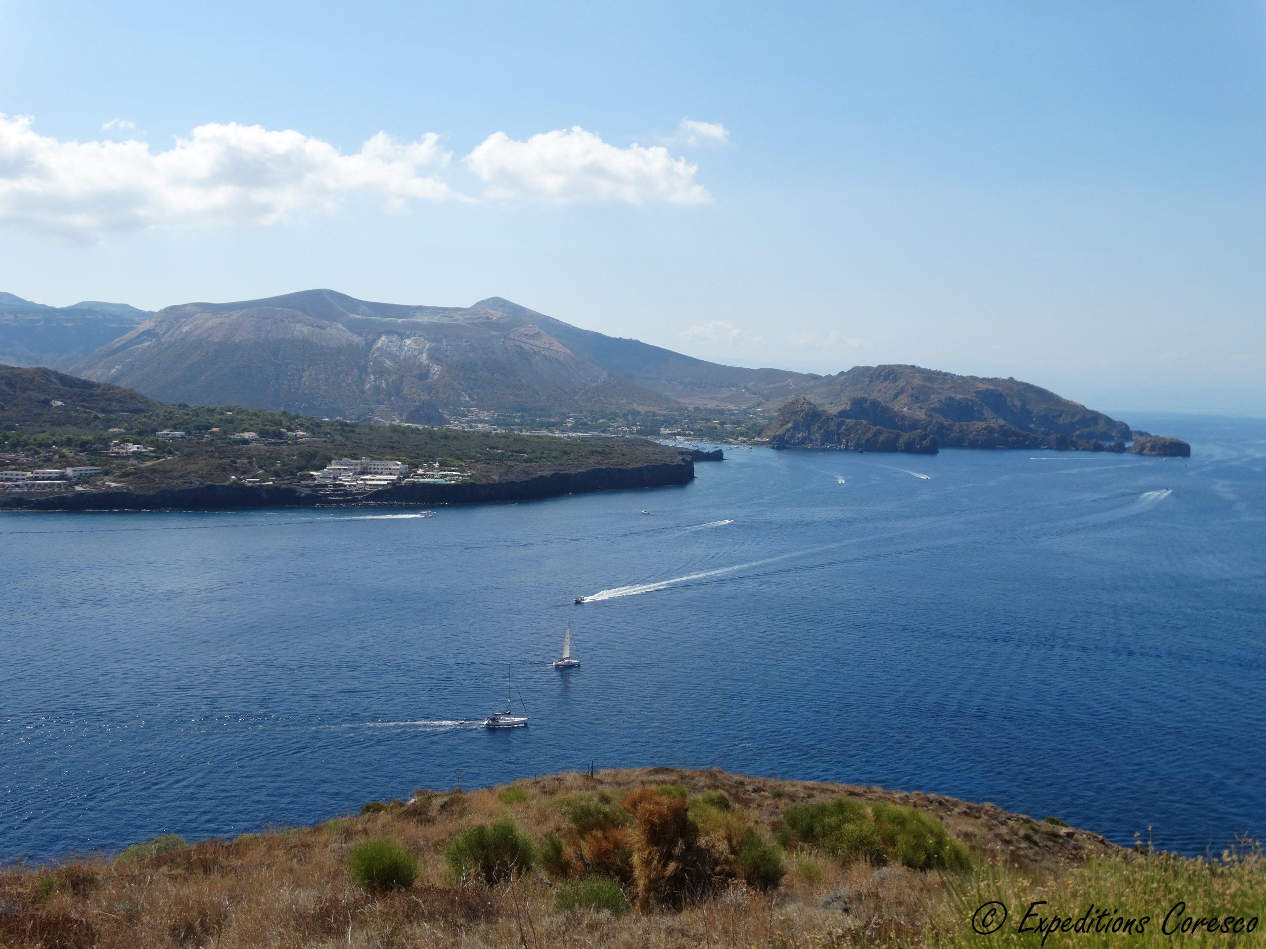 Vue sur l'île de Vulcano