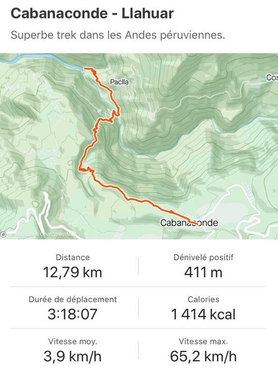 Maps jour 1 trek colca