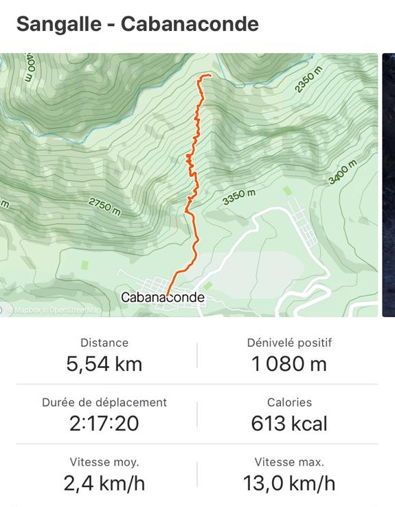 Map jour 3 trek canyon de colca