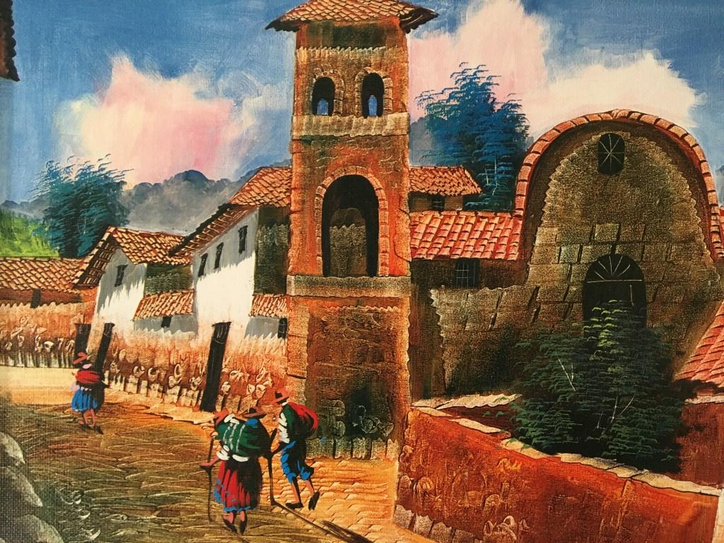 Peinture ruelles Cusco