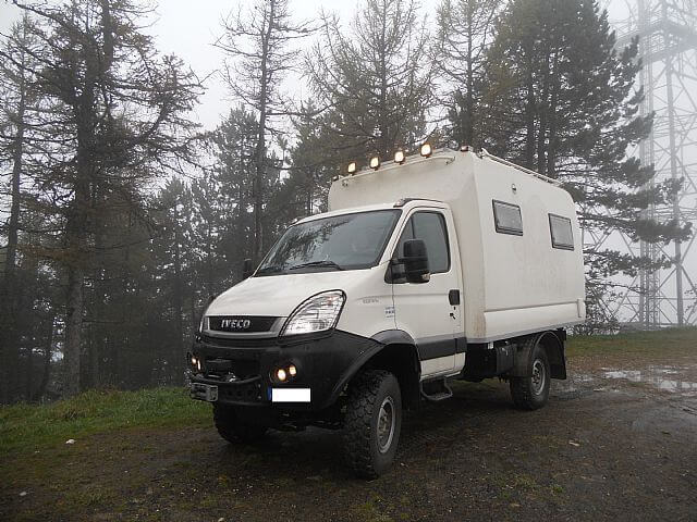Sold – Iveco Daily 4×4 55S18W Left hand drive – UK – £45,000