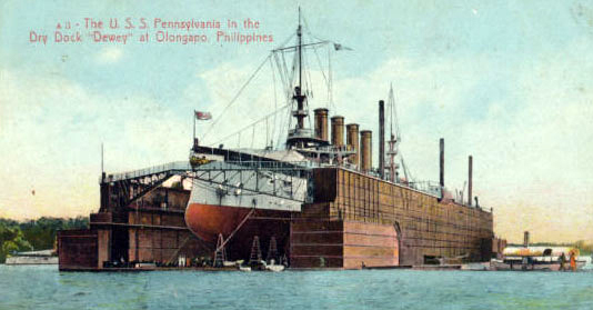 USS_Pennsylvania_(ACR-4)_in_Drydock_Dewey