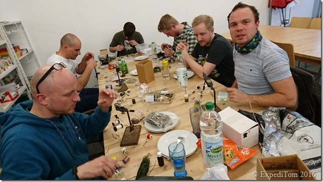 Fly Friday in action in guide to fly tying meetings in Switzerland