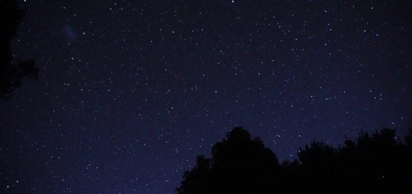 sleeping under stars.