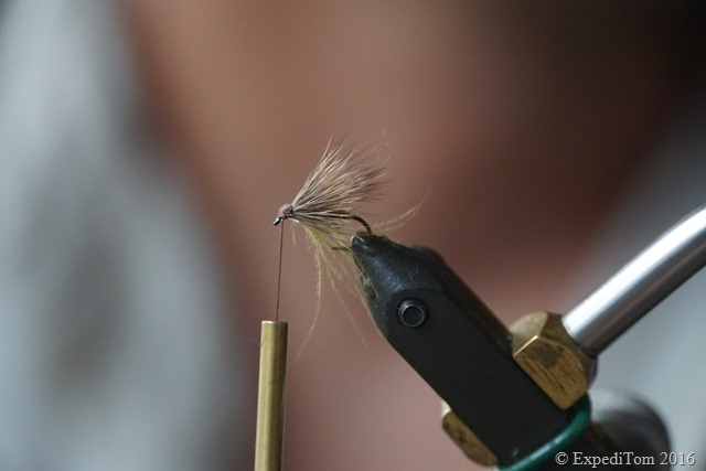 Mark from Firebelly tying a deer hair fly