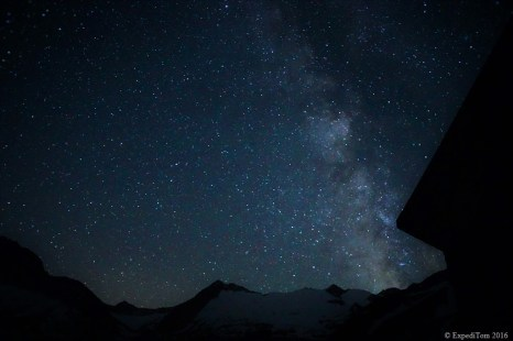 Night photography from the SAC hut