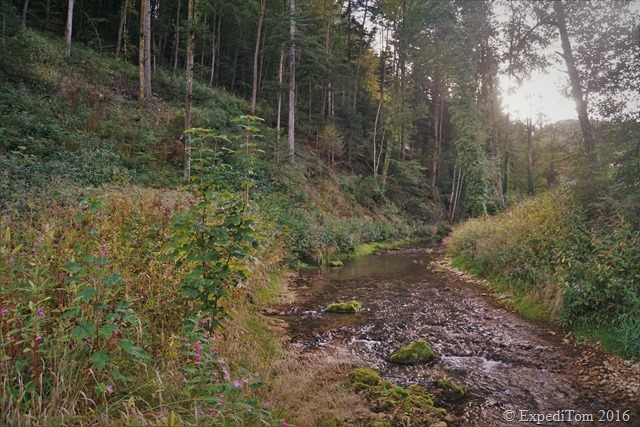 The river I followed during the two days fly fishing trip